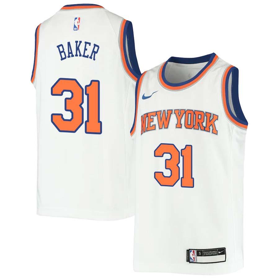 Ron Baker Knicks #31 Twill Jerseys free shipping