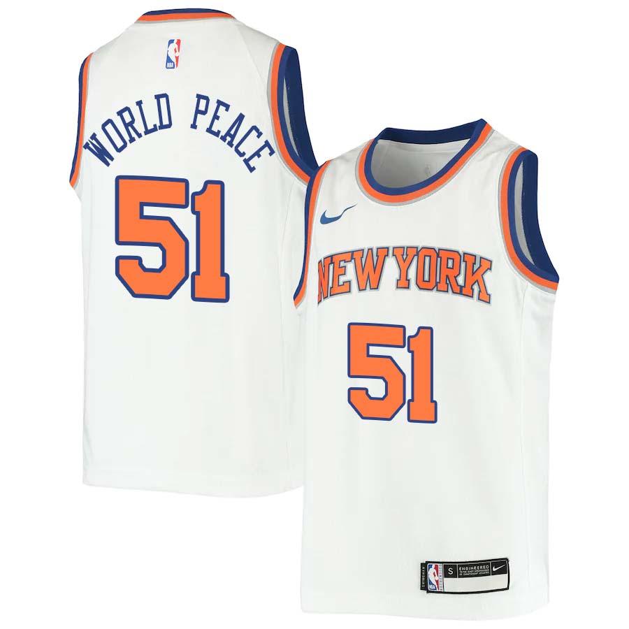 Metta World Peace Knicks #51 Twill Jerseys free shipping