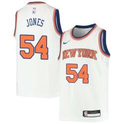 Solomon Jones Twill Basketball Jersey -Knicks #54 Jones Twill Jerseys, FREE SHIPPING