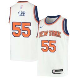 Louis Orr Twill Basketball Jersey -Knicks #55 Orr Twill Jerseys, FREE SHIPPING