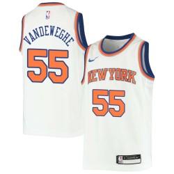 Kiki Vandeweghe Twill Basketball Jersey -Knicks #55 Vandeweghe Twill Jerseys, FREE SHIPPING