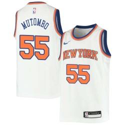 Dikembe Mutombo Twill Basketball Jersey -Knicks #55 Mutombo Twill Jerseys, FREE SHIPPING