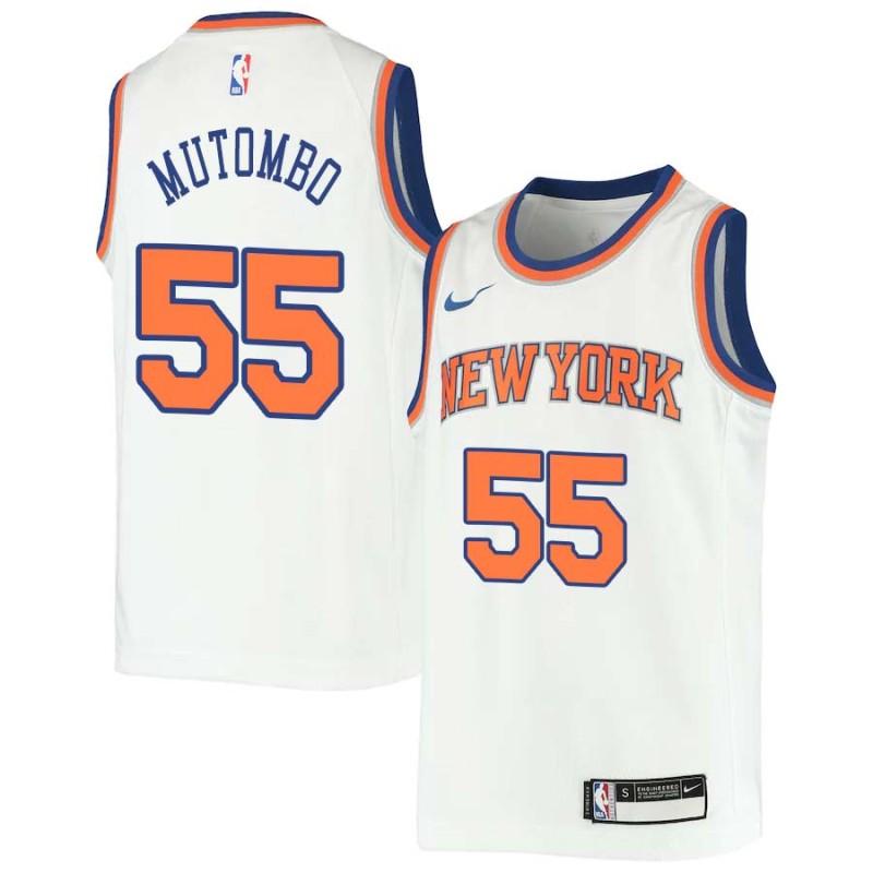 cheap for discount 870b7 7e7d8 Dikembe Mutombo Knicks #55 Twill Jerseys free shipping