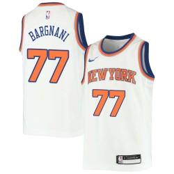 Andrea Bargnani Twill Basketball Jersey -Knicks #77 Bargnani Twill Jerseys, FREE SHIPPING