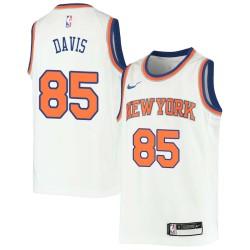 Baron Davis Twill Basketball Jersey -Knicks #85 Davis Twill Jerseys, FREE SHIPPING