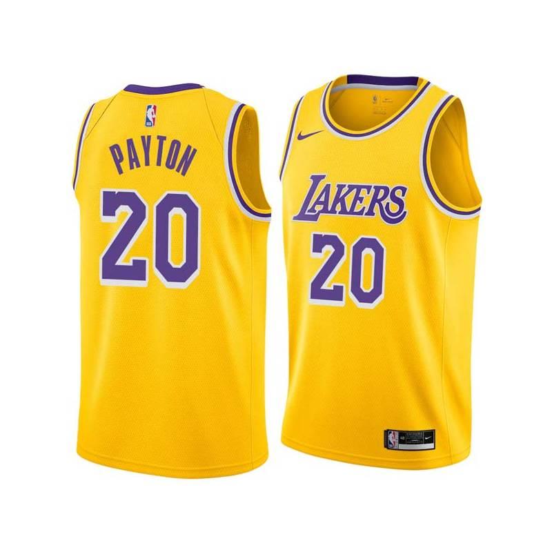 1f743030d44 Gary Payton Twill Basketball Jersey -Lakers #20 Payton Twill Jerseys, FREE  SHIPPING