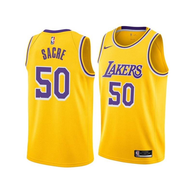 Robert Sacre Twill Basketball Jersey -Lakers #50 Sacre Twill Jerseys, FREE SHIPPING