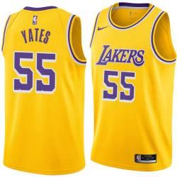 Wayne Yates Twill Basketball Jersey -Lakers #55 Yates Twill Jerseys, FREE SHIPPING