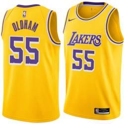 Jawann Oldham Twill Basketball Jersey -Lakers #55 Oldham Twill Jerseys, FREE SHIPPING