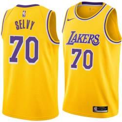 Frank Selvy Twill Basketball Jersey -Lakers #70 Selvy Twill Jerseys, FREE SHIPPING
