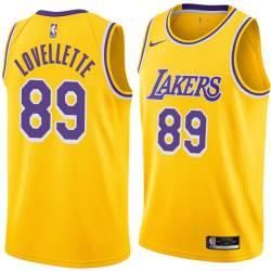 Clyde Lovellette Twill Basketball Jersey -Lakers #89 Lovellette Twill Jerseys, FREE SHIPPING