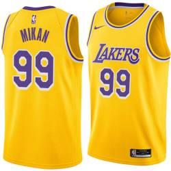 George Mikan Twill Basketball Jersey -Lakers #99 Mikan Twill Jerseys, FREE SHIPPING