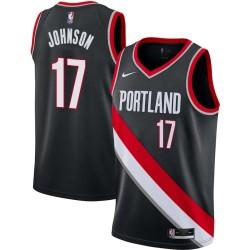 Chris Johnson Twill Basketball Jersey -Trail Blazers #17 Johnson Twill Jerseys, FREE SHIPPING