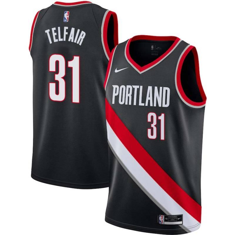 81be71371 Sebastian Telfair Twill Basketball Jersey -Trail Blazers  31 Telfair Twill  Jerseys