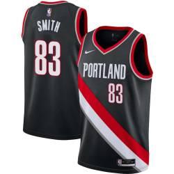 Craig Smith Twill Basketball Jersey -Trail Blazers #83 Smith Twill Jerseys, FREE SHIPPING