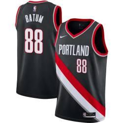 Nicolas Batum Twill Basketball Jersey -Trail Blazers #88 Batum Twill Jerseys, FREE SHIPPING