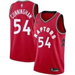 William Cunningham Twill Basketball Jersey -Raptors #54 Cunningham Twill Jerseys, FREE SHIPPING