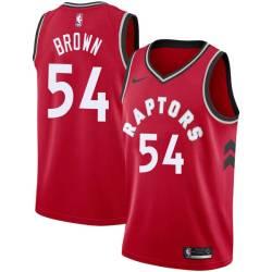 Damone Brown Twill Basketball Jersey -Raptors #54 Brown Twill Jerseys, FREE SHIPPING