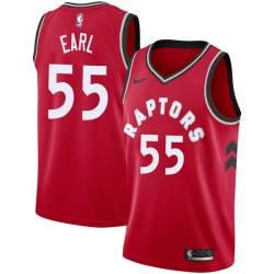 Acie Earl Twill Basketball Jersey -Raptors #55 Earl Twill Jerseys, FREE SHIPPING