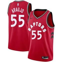 Rafael Araujo Twill Basketball Jersey -Raptors #55 Araujo Twill Jerseys, FREE SHIPPING