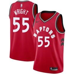 Delon Wright Twill Basketball Jersey -Raptors #55 Wright Twill Jerseys, FREE SHIPPING