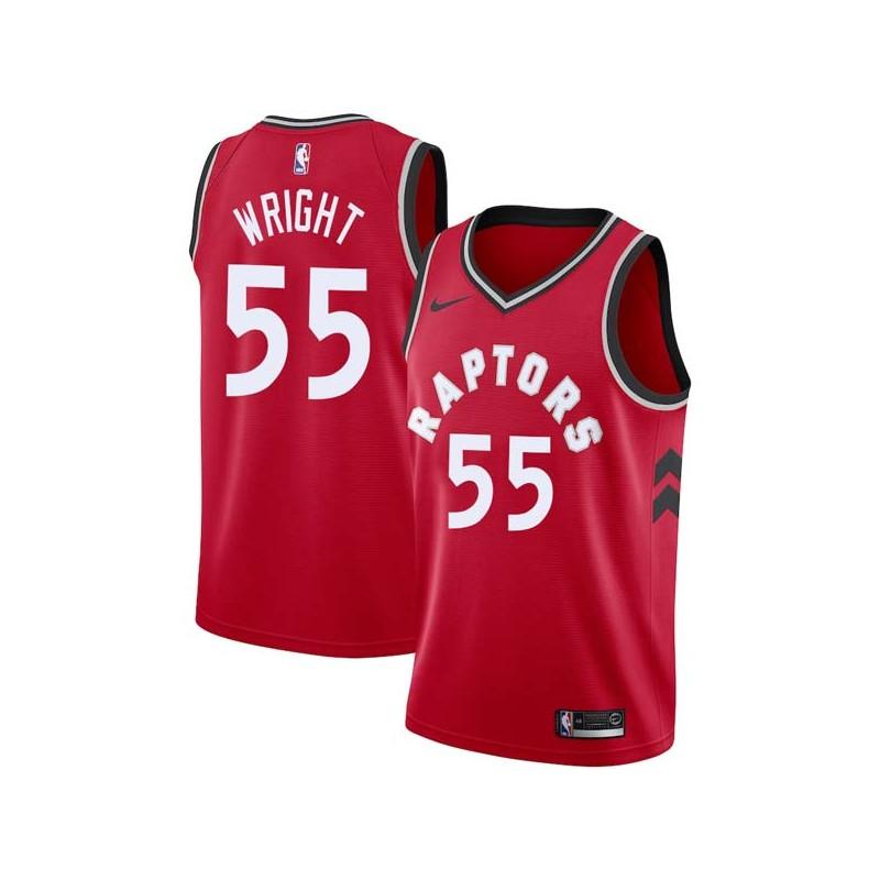 save off 99bcf 4bca2 Delon Wright Raptors #55 Twill Jerseys free shipping
