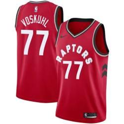 Jake Voskuhl Twill Basketball Jersey -Raptors #77 Voskuhl Twill Jerseys, FREE SHIPPING