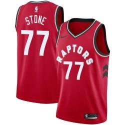 Julyan Stone Twill Basketball Jersey -Raptors #77 Stone Twill Jerseys, FREE SHIPPING
