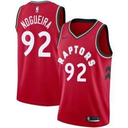 Lucas Nogueira Twill Basketball Jersey -Raptors #92 Nogueira Twill Jerseys, FREE SHIPPING