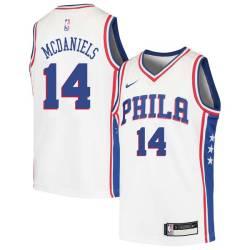 K.J. McDaniels Twill Basketball Jersey -76ers #14 McDaniels Twill Jerseys, FREE SHIPPING